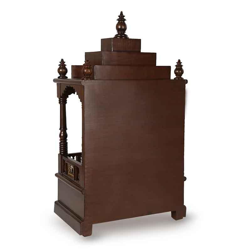Moorni Teak Wood Temple in Walnut Brown - EL-020-147