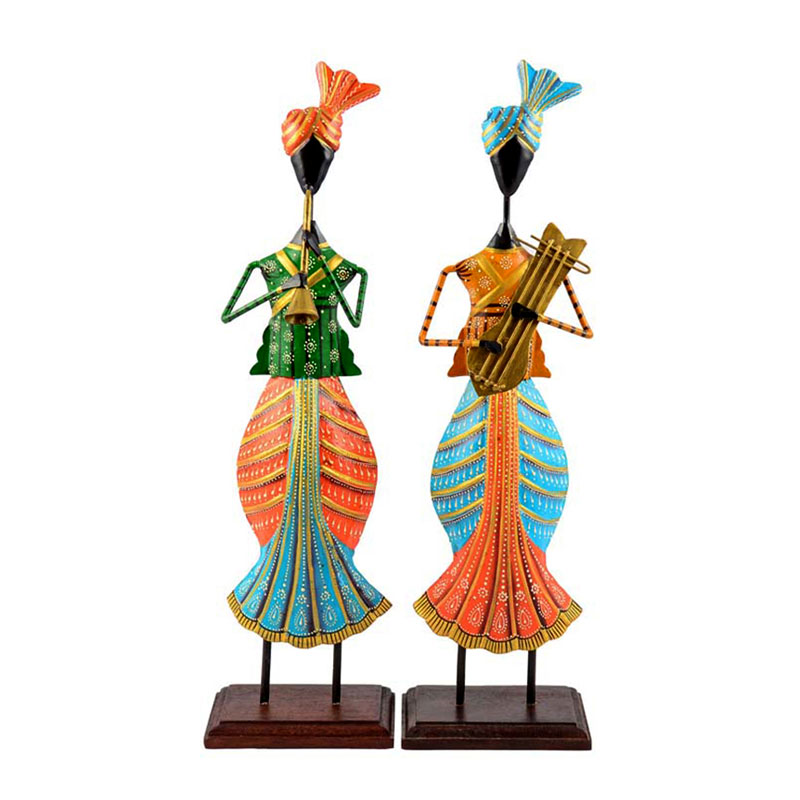 Handikart Iron & Wooden Based Colorful Musicians