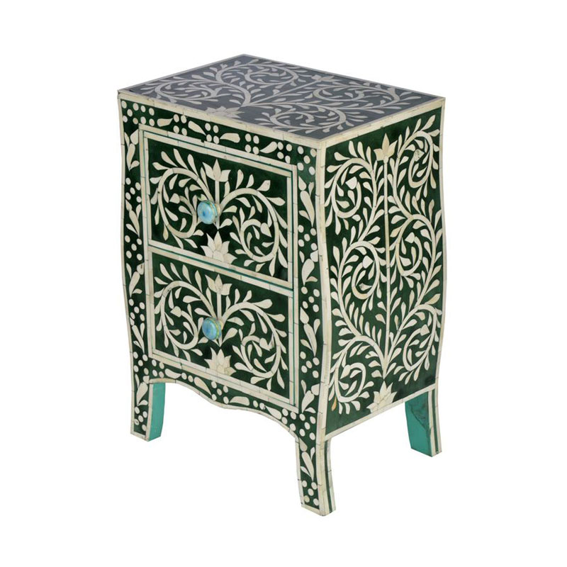 Moorni Real Wood Decorative Inlay Table - MBX-28