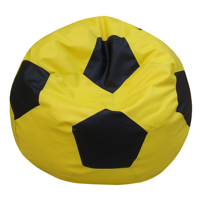 Classic Football Bean Bag Filled with Beans Yellow and Black