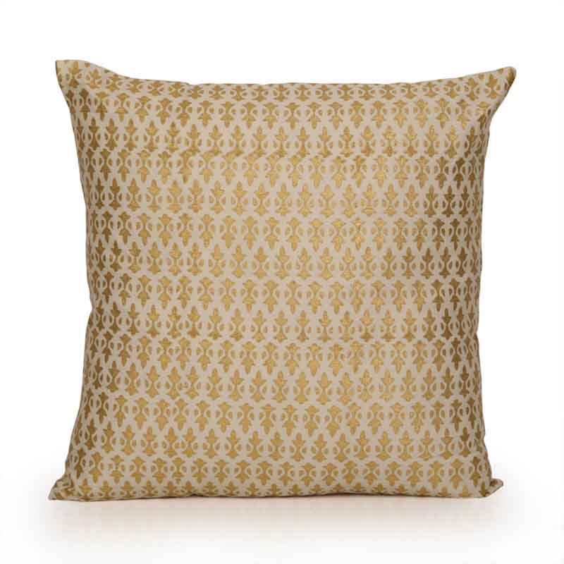 Moorni Wooden Block Printed Cotton Cushion Cover - Set of 3 - EL-026-059