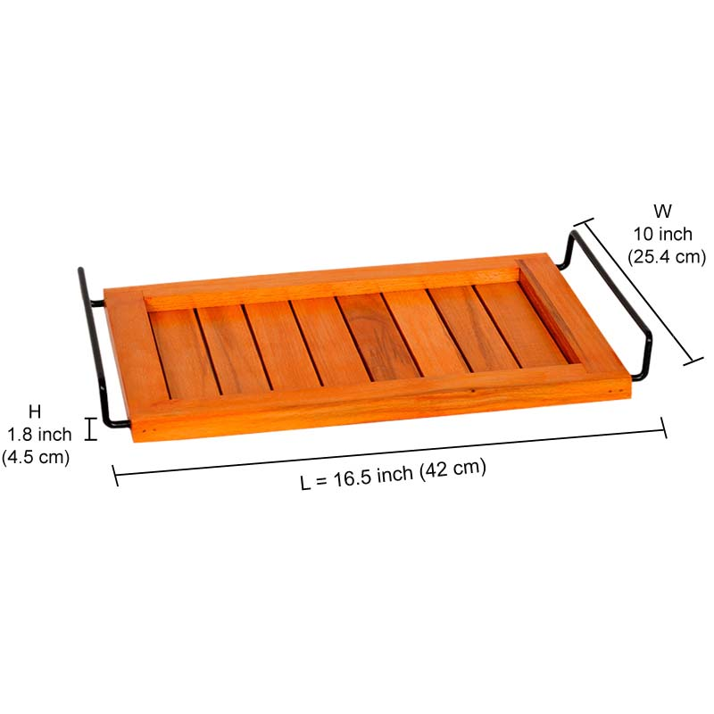 Moorni Orange and Blue Serving Tray Set