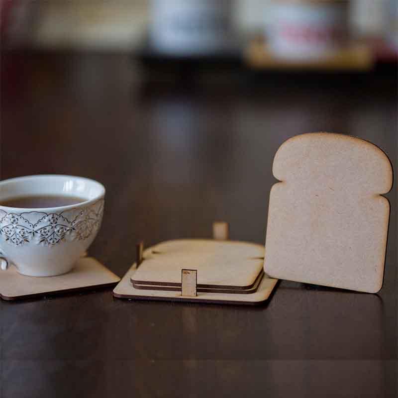 Olha-o Bread Shaped Coasters (Set of 4)