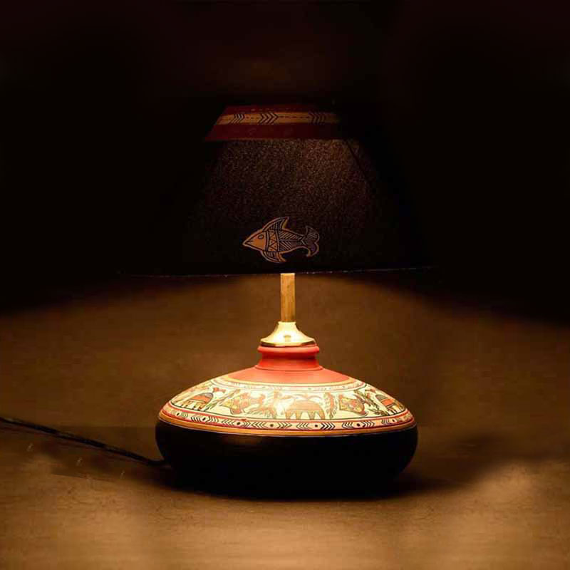 Handikart Hand Painted Warli & Madhubani Art Decorative Lamp
