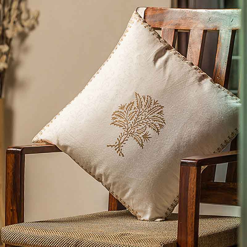 Moorni Wooden Block Printed Cotton Cushion Cover - Set of 3 - EL-026-056