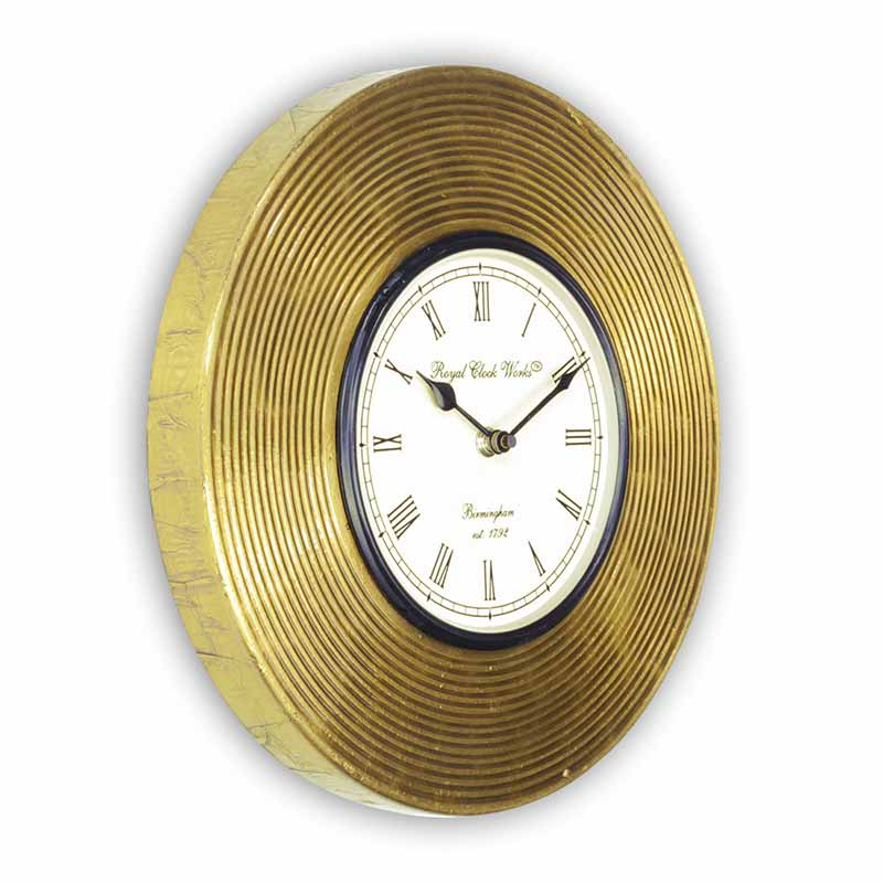 Moorni Vintage Shimmer Heritage Wall Clock With Brass Carving - EL-001-052