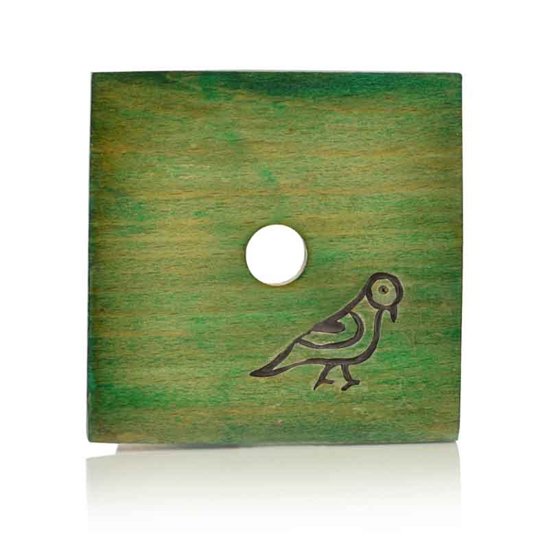 Moorni Multicolured Parrot Carving Coasters Set in Wood