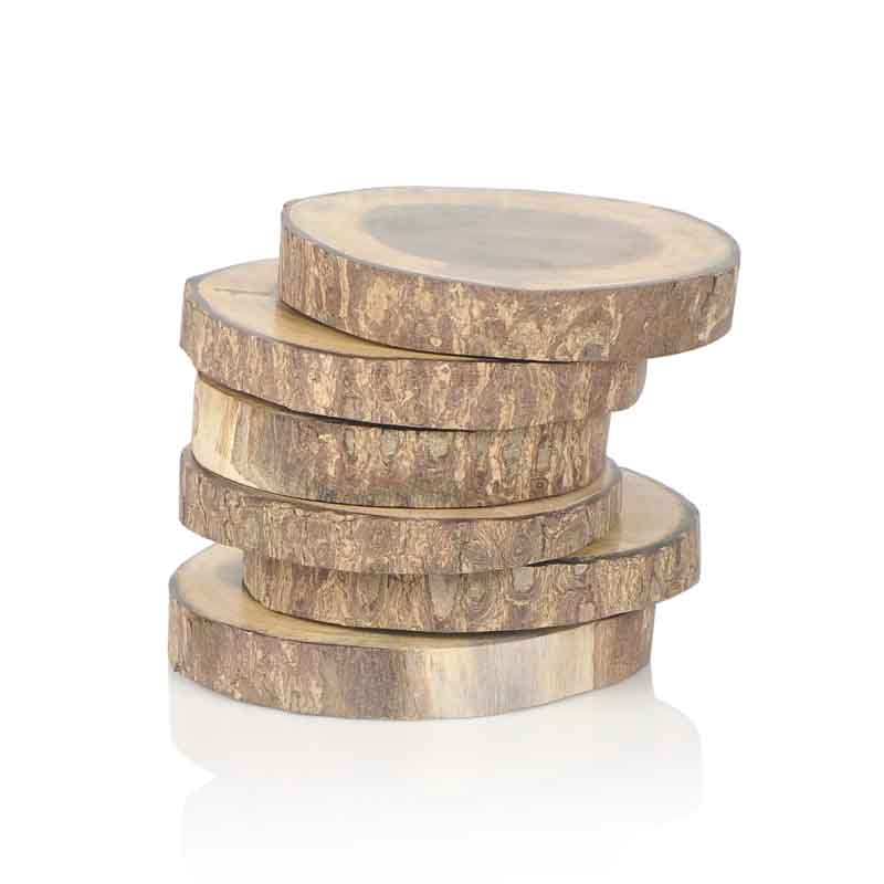 Moorni Tree Cut Wooden Coasters Set Of 6