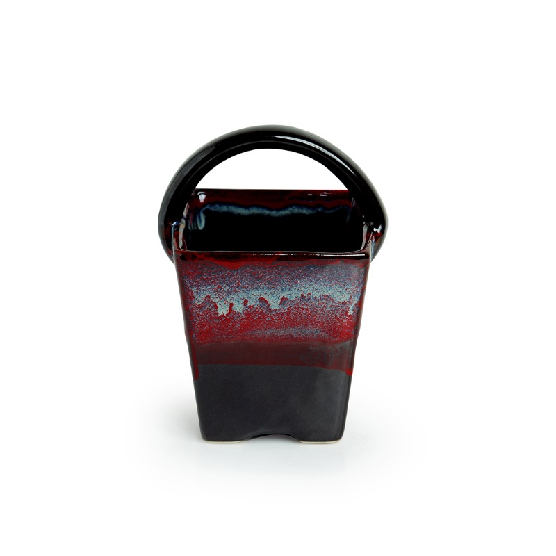 Moorni Bucket of Lava Hand Glazed Studio Pottery Ceramic Cutlery Holder