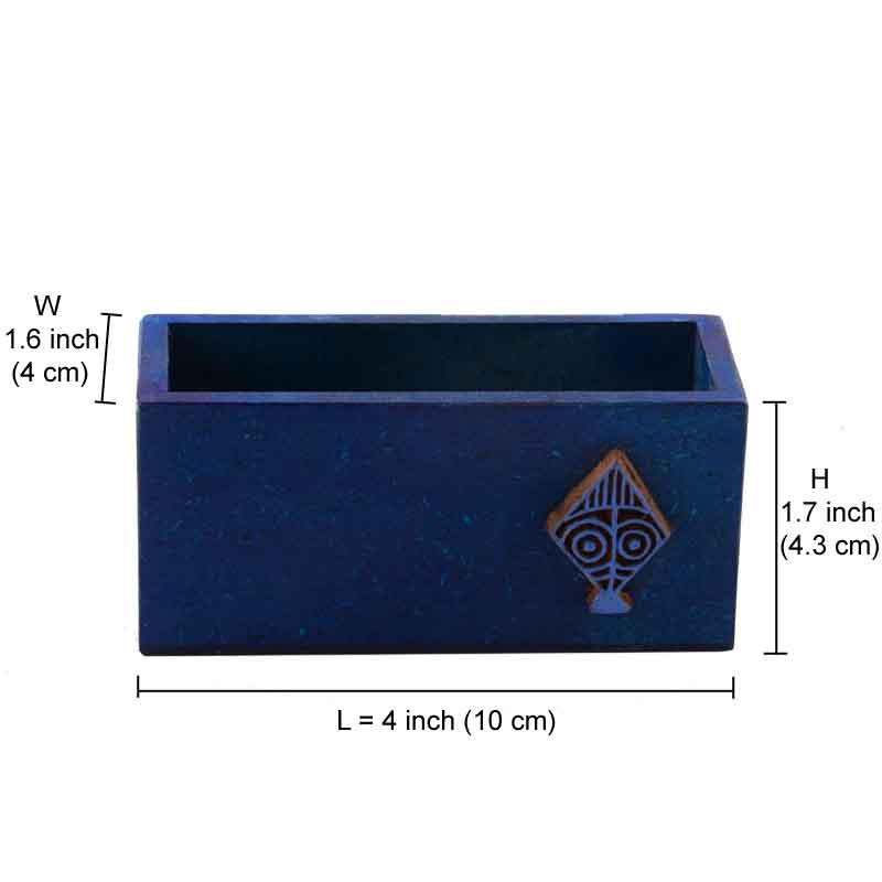 Moorni Business Card Holder with Kite Block Blue