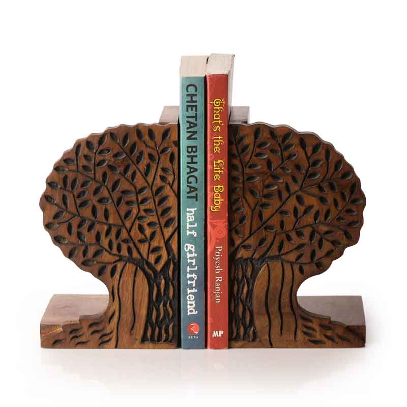 Moorni Tree of Life Book End in Sheesham Wood