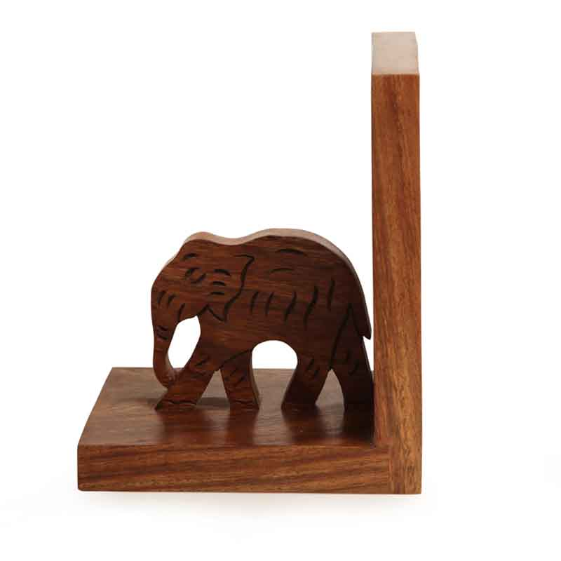Moorni Elephant Book End with Hand Carving