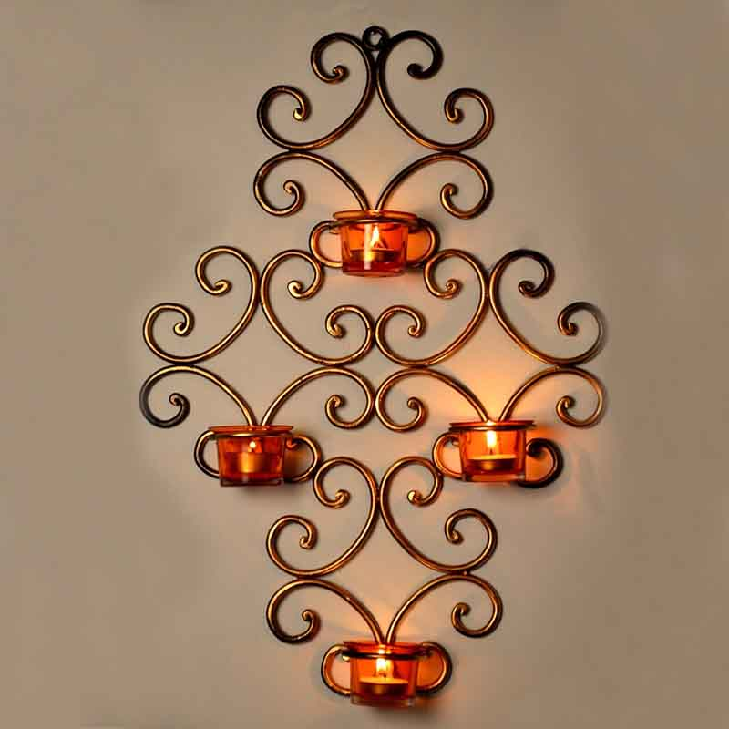 Moorni Wall Scone with 4 Tea Lights Holders