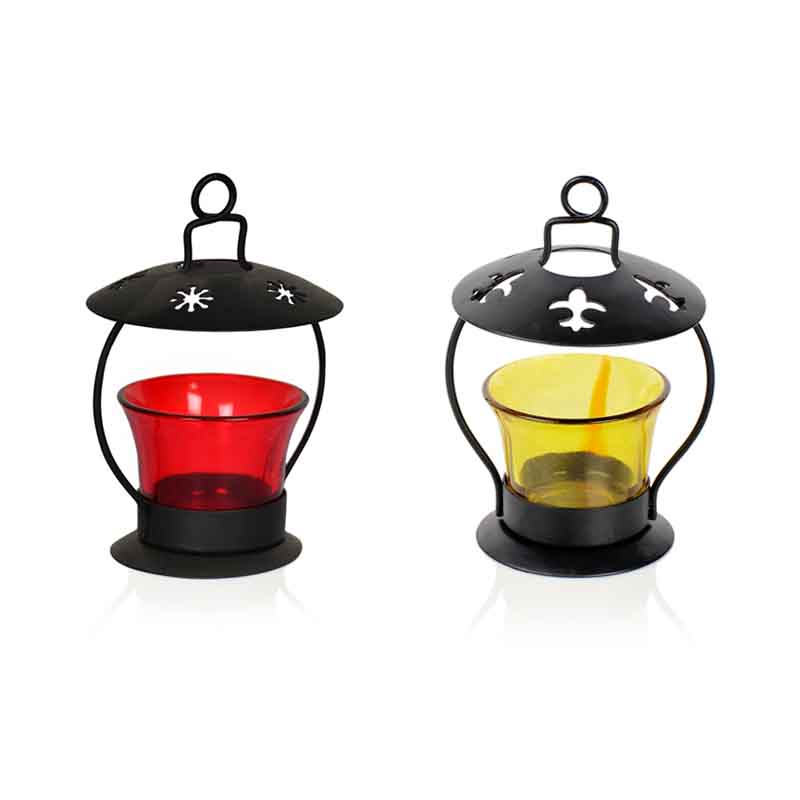 Moorni Hanging Cum Table Tealight Holder set of 2