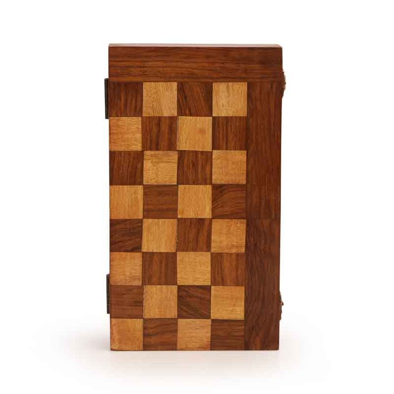 Moorni Wooden Chess Patterned Multi Utlity Box