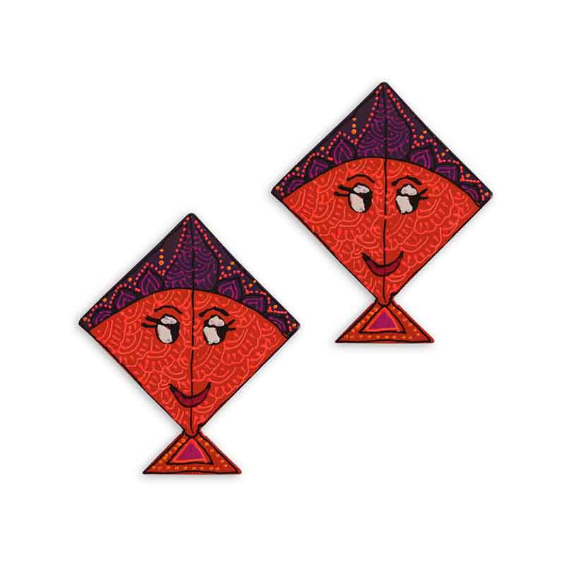 Moorni Handpainted Kite Fridge Magnet Set