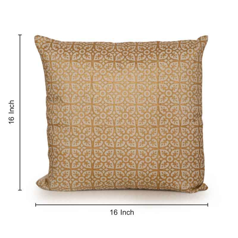 Moorni Miracle Wooden Handblocked Cushion Cover in Soft Cotton - EL-026-035