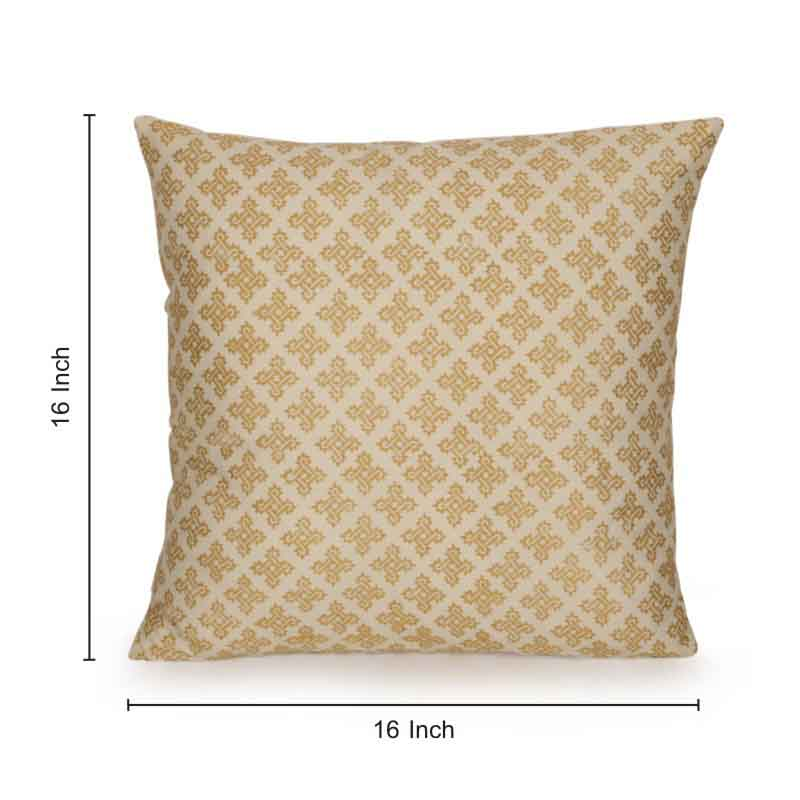 Moorni Stardom Wooden Handblocked Cushion Cover in Soft Cotton - EL-026-036
