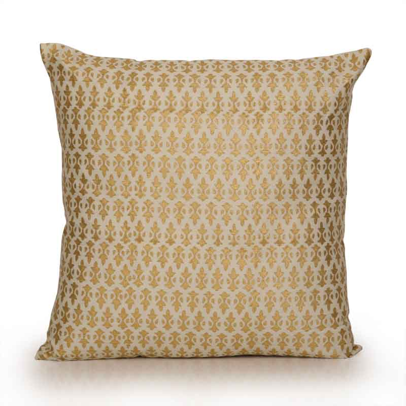 Moorni Paradise Wooden Handblocked Cushion Cover in Soft Cotton - EL-026-037