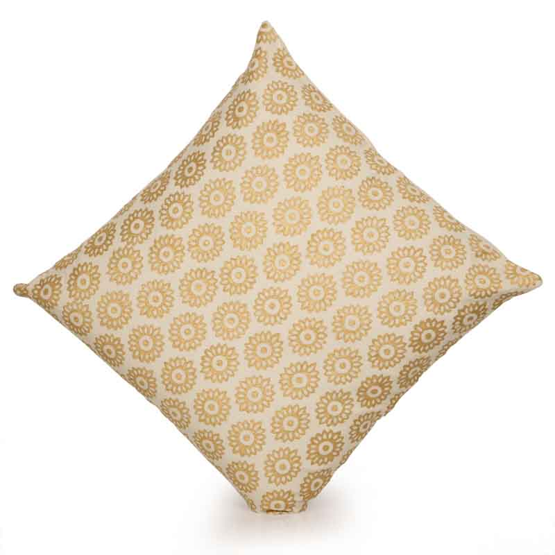 Moorni Millenia Wooden Handblocked Cushion Cover in Soft Cotton - EL-026-041