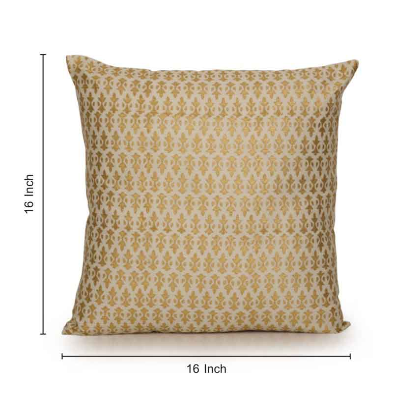 Moorni Paradise Wooden Handblocked Cushion Cover in Soft Cotton - Set of 2 - EL-026-048