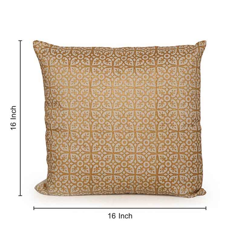 Moorni Wooden Block Printed Cotton Cushion Cover - Set of 4 - EL-026-068
