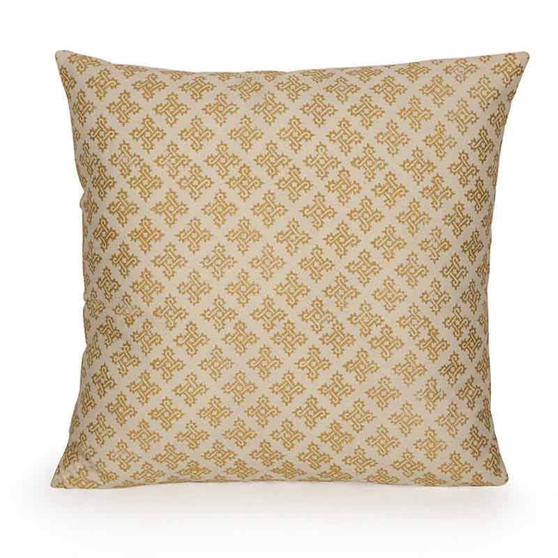 Moorni Wooden Block Printed Cotton Cushion Cover - Set of 4 - EL-026-069