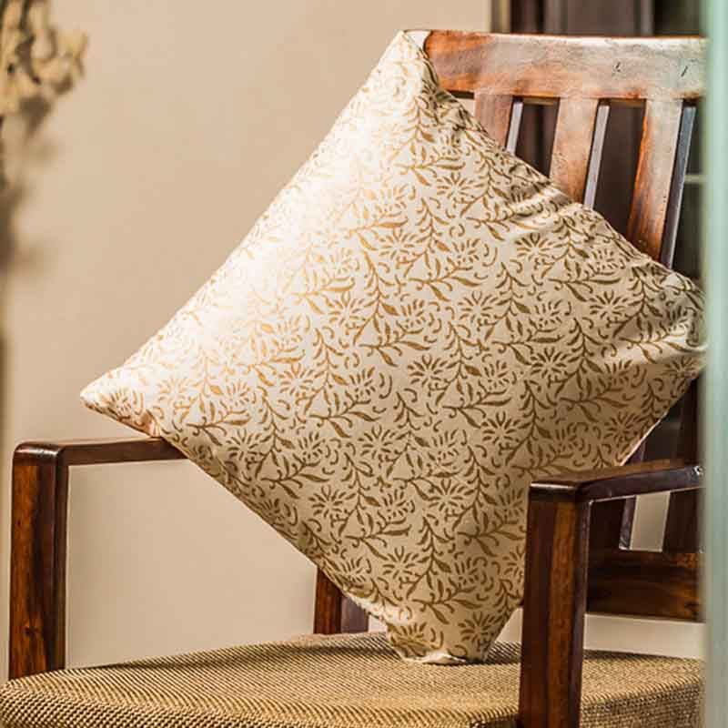 Moorni Wooden Block Printed Cotton Cushion Cover - Set of 4 - EL-026-072