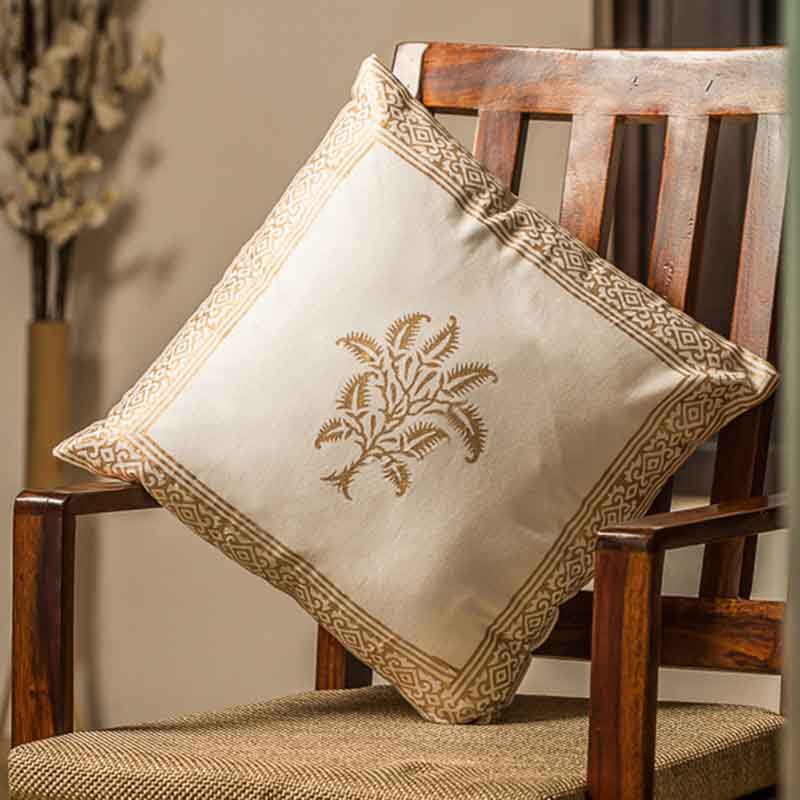 Moorni Wooden Block Printed Cotton Cushion Cover - Set of 6 - EL-026-087