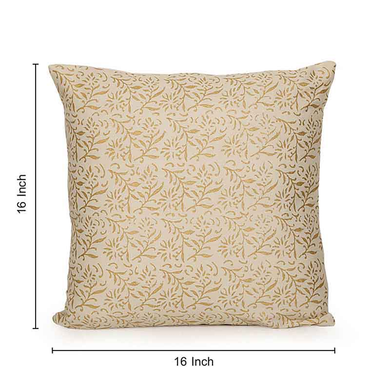 Moorni Wooden Block Printed Cotton Cushion Cover - Set of 6 - EL-026-094