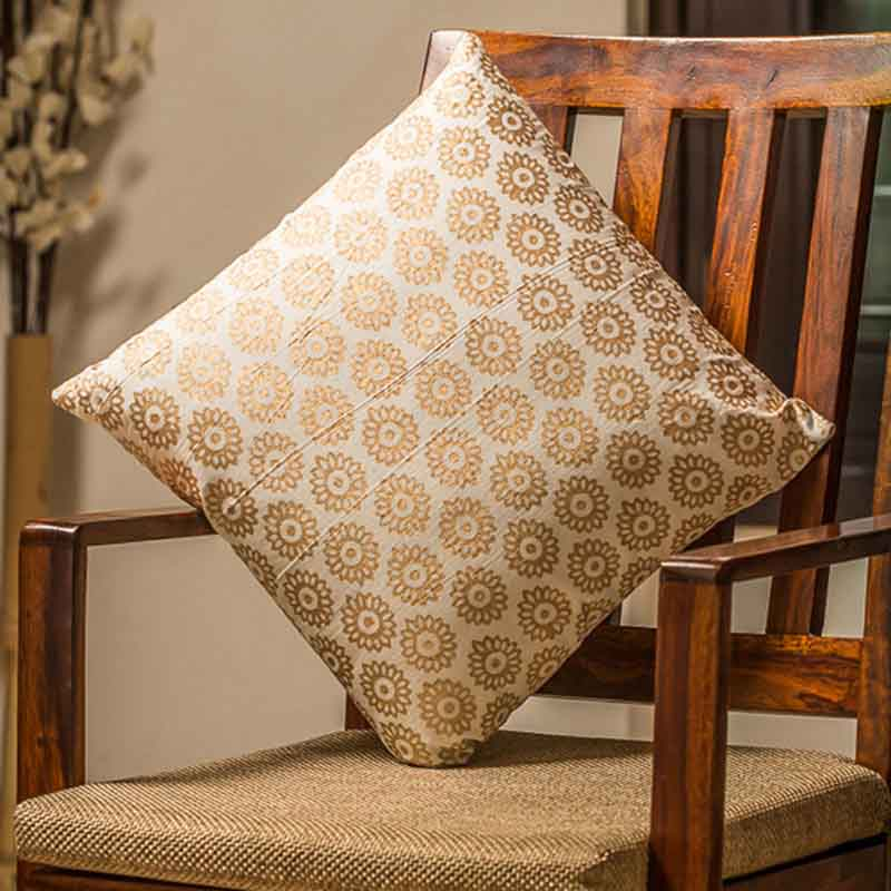 Moorni Wooden Block Printed Cotton Cushion Cover - Set of 6 - EL-026-096