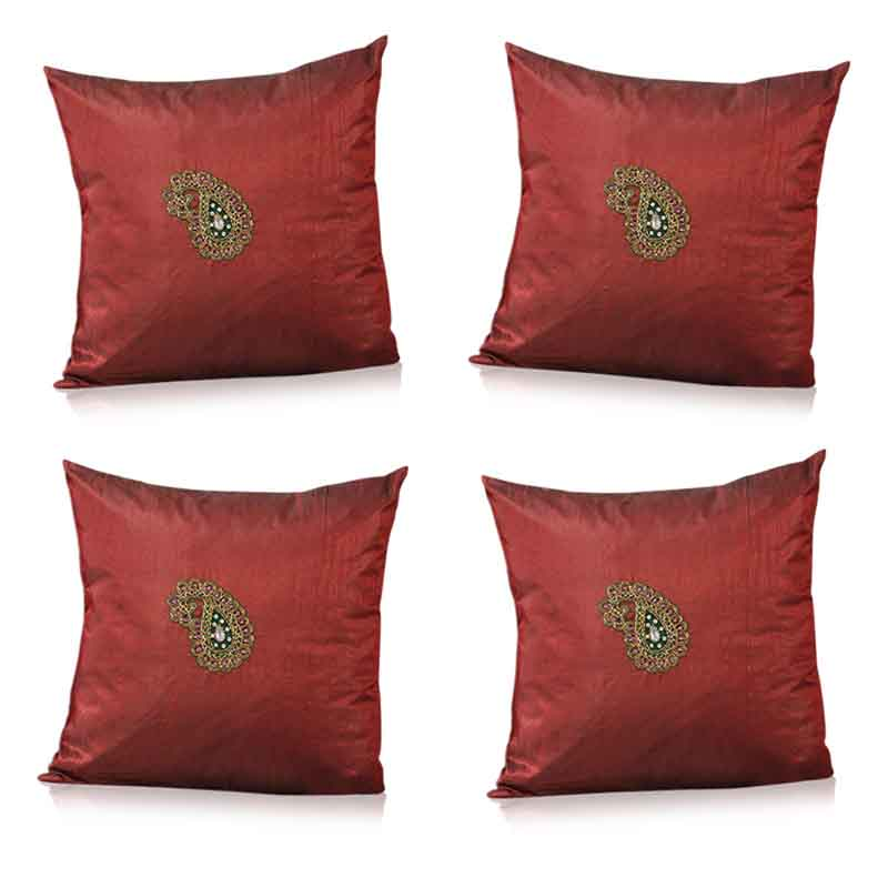 Moorni Pure Silk Cushion Covers - Set of 4 - EL-026-158