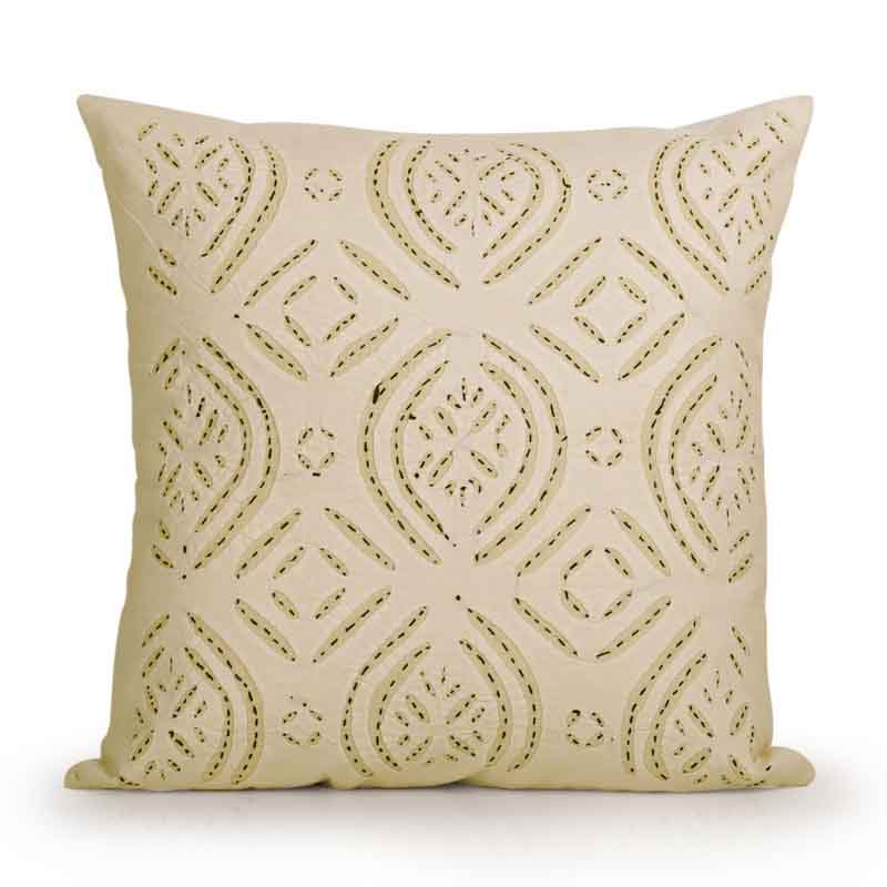 Moorni Applique Art Cushion Cover in Soft Cotton - Set of 2 - EL-026-193