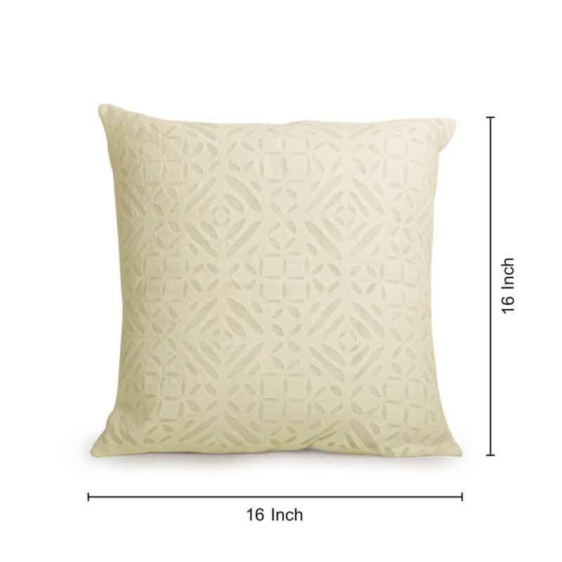 Moorni Applique Art Cushion Cover in Soft Cotton - Set of 2 - EL-026-194