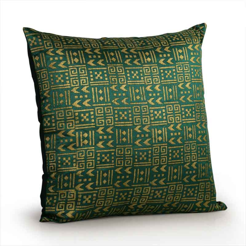 Moorni Handblock Printed Cushion Cover in Silk - Set of 3 - EL-026-196