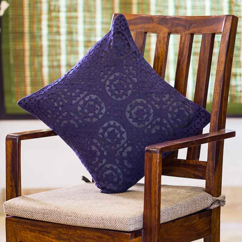 Moorni Applique Art Cushion Cover in Soft Cotton - Set of 3 - EL-026-209
