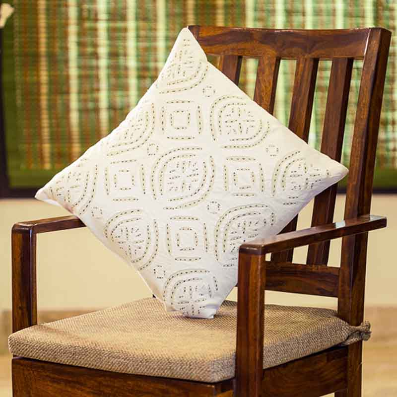 Moorni Applique Art Cushion Cover in Soft Cotton - Set of 3 - EL-026-210
