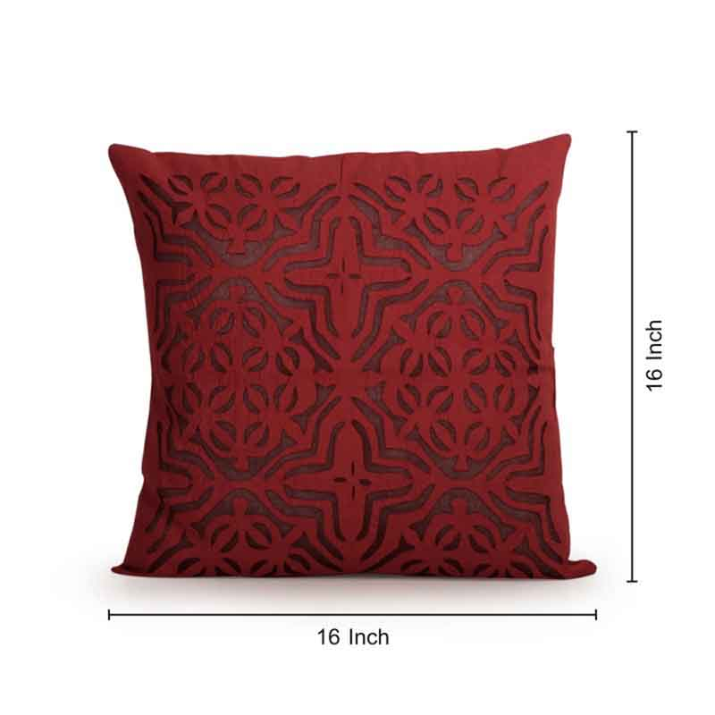 Moorni Applique Art Cushion Cover in Soft Cotton - Set of 4 - EL-026-224