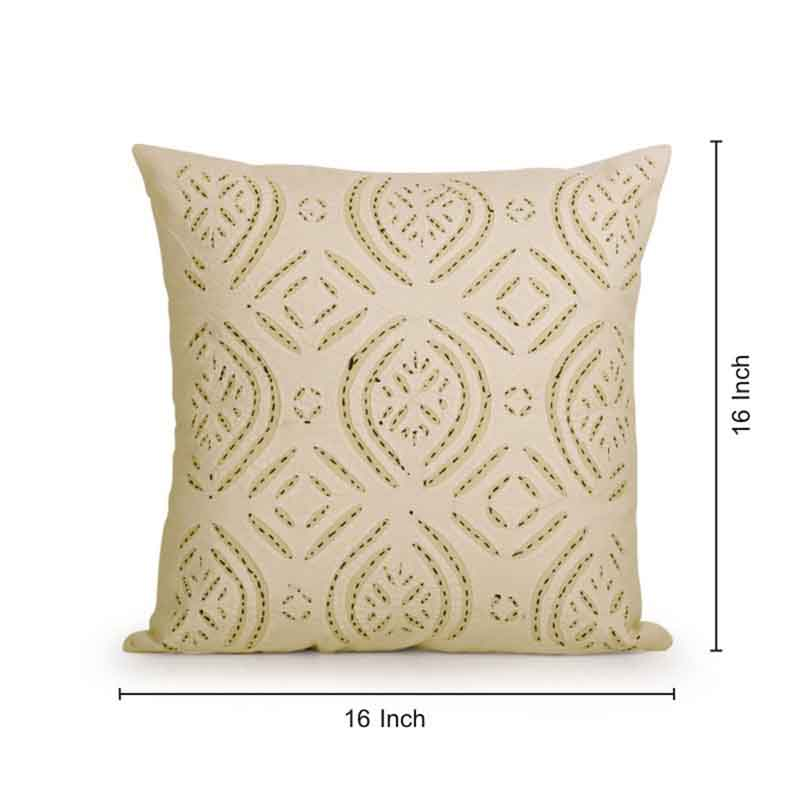 Moorni Applique Art Cushion Cover in Soft Cotton - Set of 4 - EL-026-226