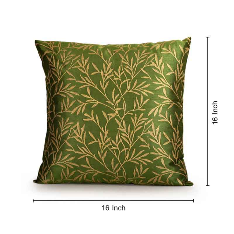 Moorni Handblock Printed Cushion Cover in Silk - Set of 5 - EL-026-234