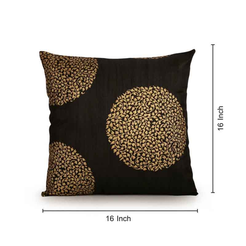 Moorni Handblock Printed Cushion Cover in Silk - Set of 5 - EL-026-235