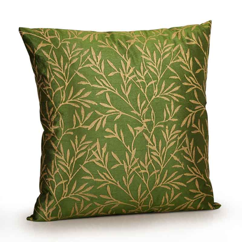 Moorni Handblock Printed Cushion Cover in Silk - Set of 6 - EL-026-250