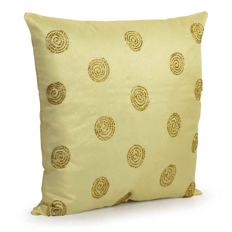 Moorni Hand Embroidered Cushion Cover in Silk - EL-026-262