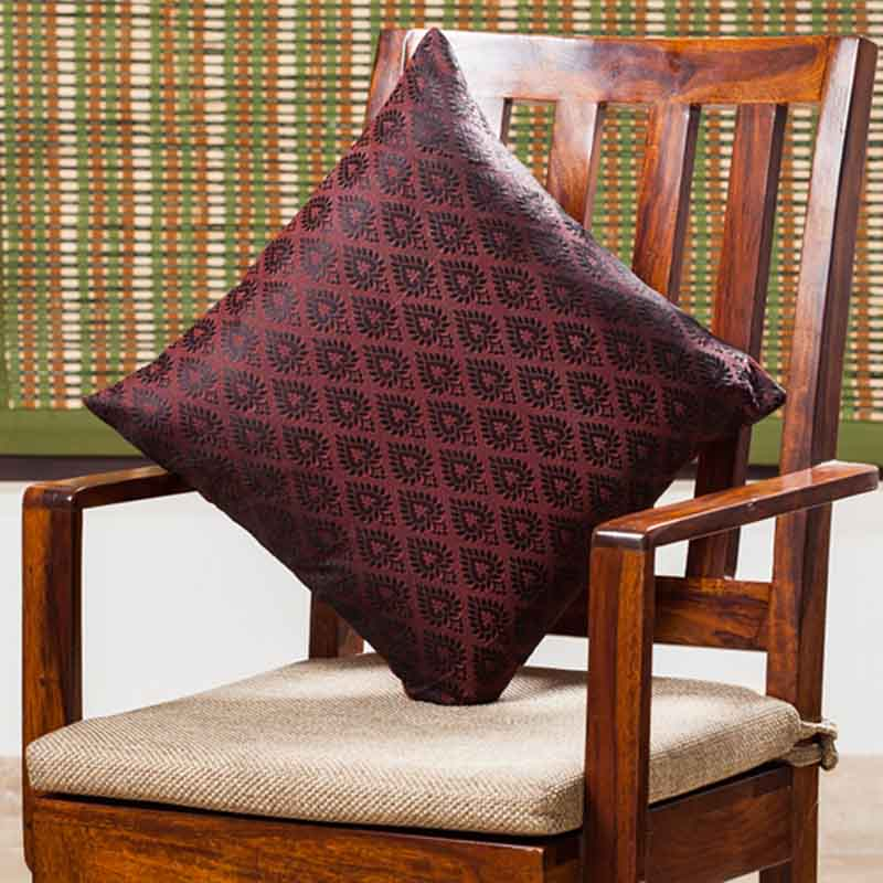 Moorni Handwoven Cushion Cover in Silk - EL-026-264