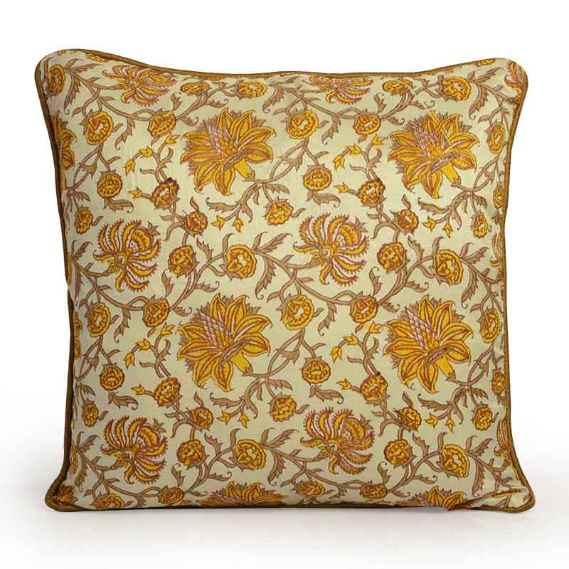 Moorni Hand Block Printing Cushion Cover in Cotton - EL-026-270