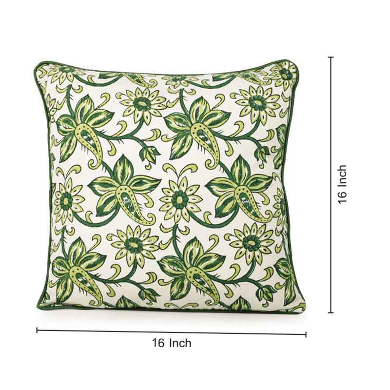 Moorni Hand Block Printing Cushion Cover in Cotton (Both Sides) Set Of 2 - EL-026-279