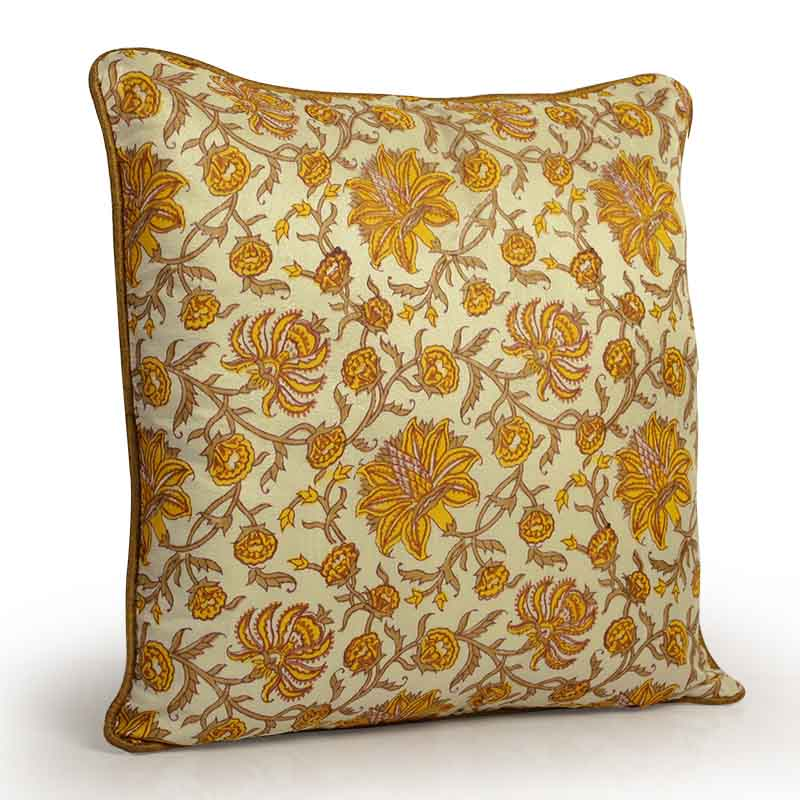 Moorni Hand Block Printing Cushion Cover in Cotton - Set of 3 - EL-026-294