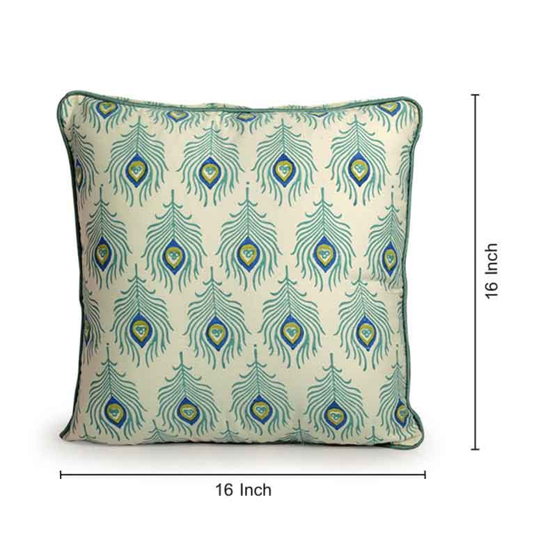Moorni Hand Block Printing Cushion Cover in Cotton (Both Sides) Set Of 5 - EL-026-307