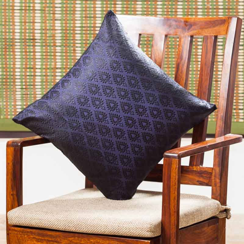 Moorni Handwoven Cushion Cover in Silk - Set of 5 - EL-026-316