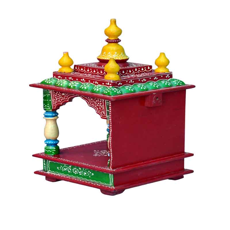 Glow Homes Hand Painted Wooden  Temple KWID-11E